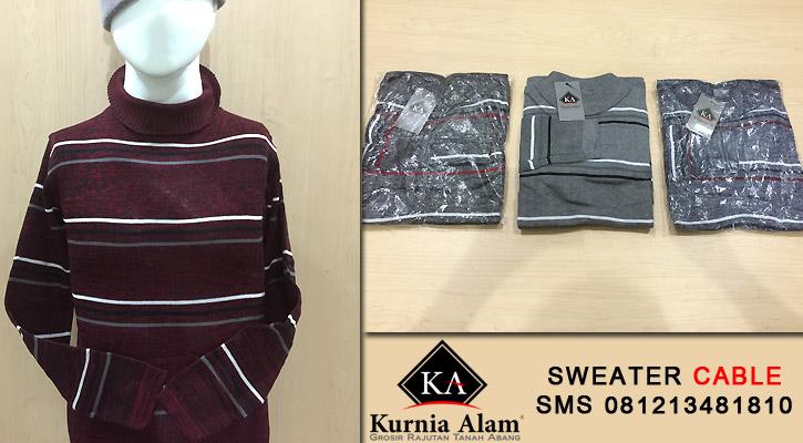 Sweater-Rajut-Pria-Murah-Cable